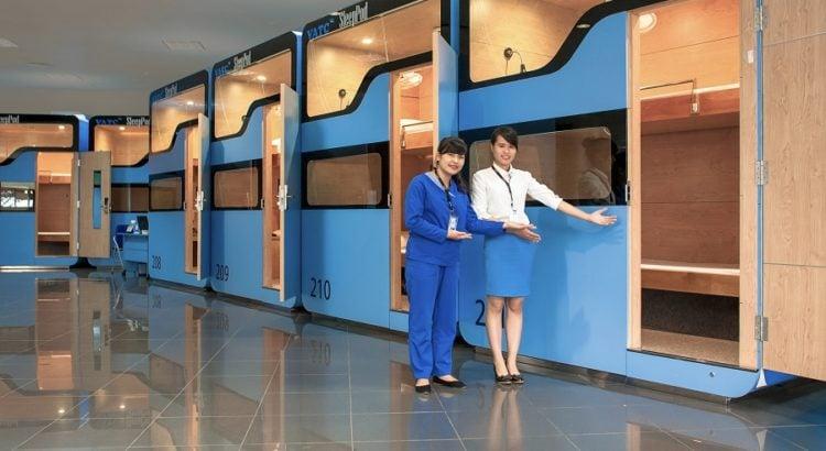 Dịch vụ hộp ngủ (Sleep Pod) tại sân bay Nội Bài