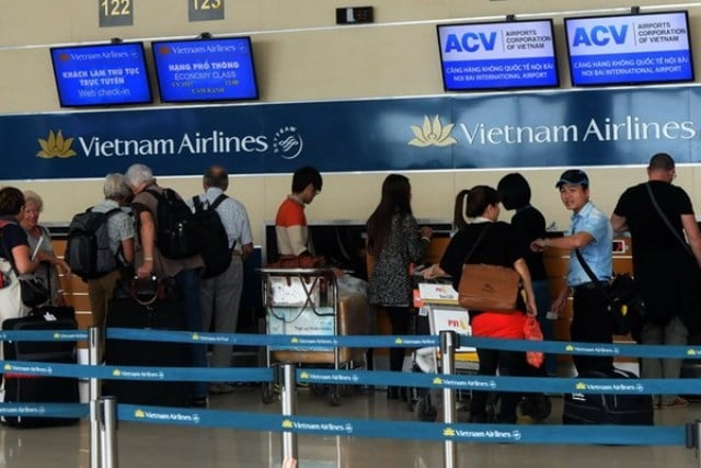 Quầy check in của Vietnam Airlines