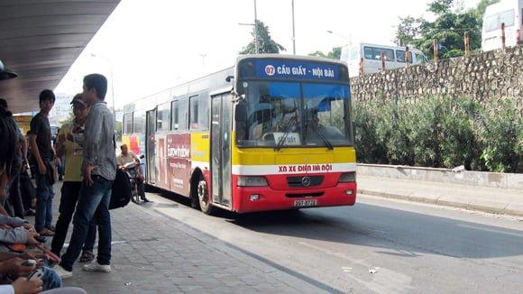 Xe bus 07 Cầu Giấy - sân bay Nội Bài