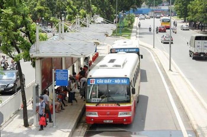 Xe buýt số 07 Cầu Giấy - Nội Bài