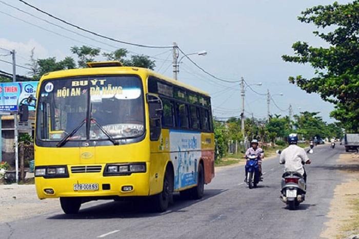 Đi xe bus từ sân bay Đà Nẵng về Hội An
