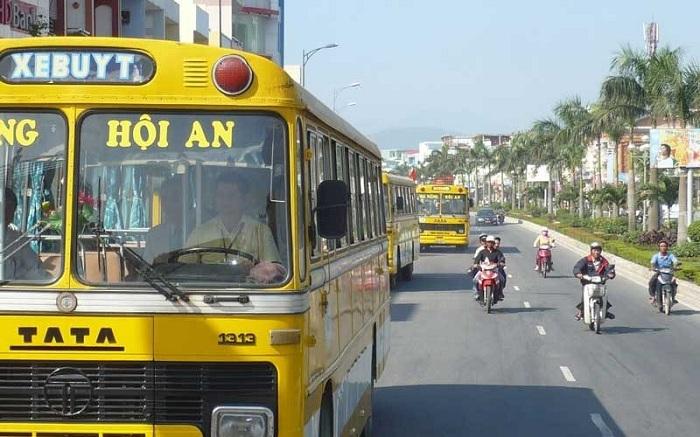 Xe buýt từ Hội An ra sân bay Đà Nẵng
