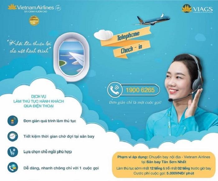 Dịch vụ check in trực tuyến qua điện thoại được áp dụng tại sân bay Tân Sân Nhất