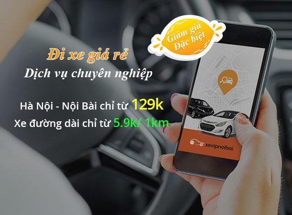 Đặt xe giá rẻ tại xe vip nội bài
